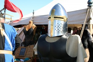 The vendors were probably the main draw for regular attendees of the event, and this tent, like many others, sold armor and clothing.