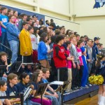 The Blaze Craze cheers on the team during sectional play. Photo: Jack Sampson