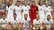 EDMONTON, AB - JUNE 22: Team USA poses for a photo during the FIFA Women's World Cup Canada Round 16 match between USA and Columbia at Commonwealth Stadium on June 22, 2015 in Edmonton, Alberta, Canada.  (Photo by Todd Korol/Getty Images)
