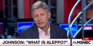 The Aleppo Moment: Why Gary Johnson's Foreign Policy Blunder Isn't So Tiny