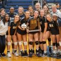Girls Volleyball Celebrates First Ever Sectional Win
